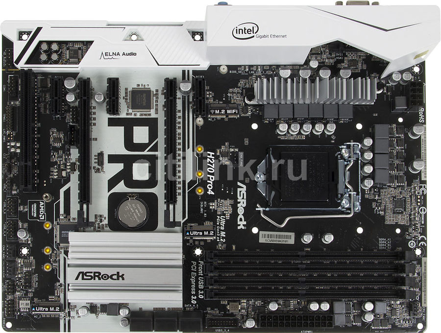 Материнская плата ASROCK H270 PRO4, LGA 1151, Intel H270, ATX, Ret