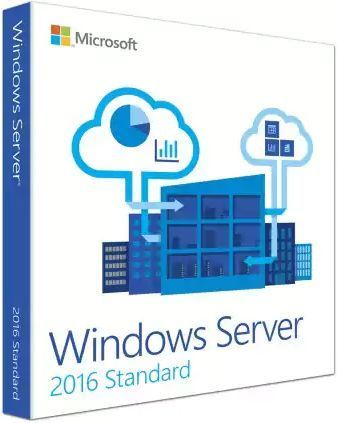 Операционная система MICROSOFT Windows Server 2016 Standard, 64 bit, Rus, BOX, DVD [p73-07081]