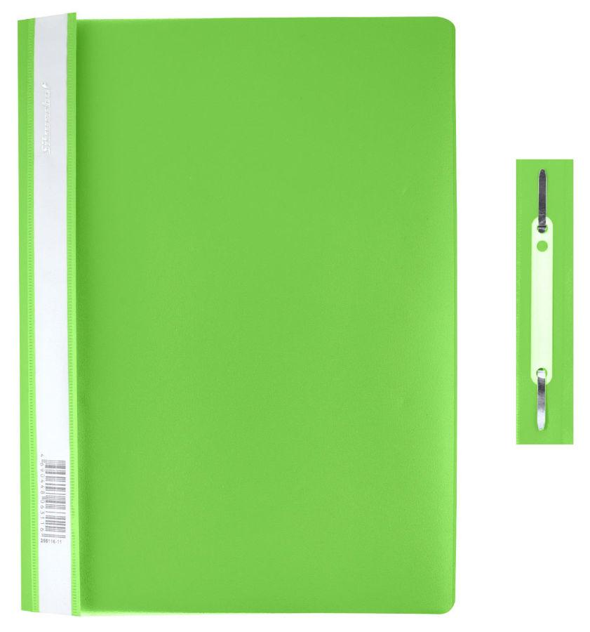 Папка-скоросшиватель Silwerhof Classic 255116-29 A4 прозрач.верх.лист зеленый 0.12/0.18мм (упак.:10ш
