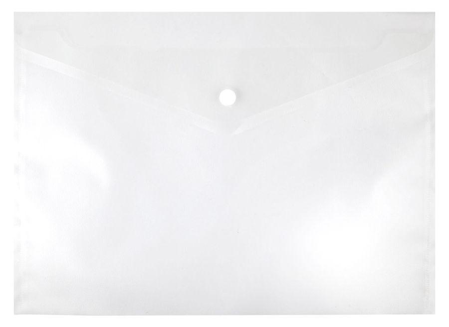 Конверт на кнопке Silwerhof 255080-00 A4 гориз. тисненый 0.12мм прозрачный