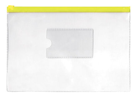 Папка на молнии ZIP Silwerhof Classic 255181-05 DL/E65 ПВХ 0.11мм карм.для визит. цвет молнии желтый