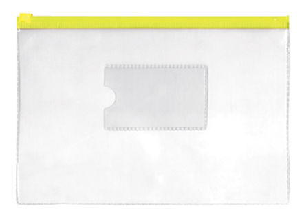 Папка на молнии ZIP Silwerhof Classic 255182-05 B5 ПВХ 0.11мм карм.для визит. цвет молнии желтый