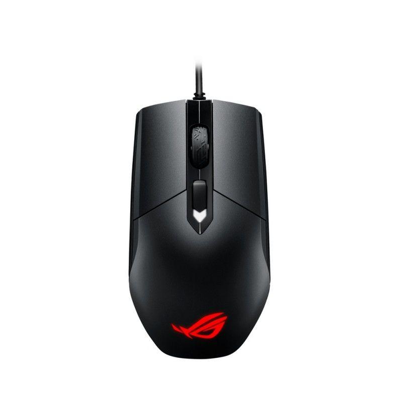 Мышь ASUS ROG STRIX Impact, игровая, оптическая, проводная, USB, черный [90mp00p0-b0ua00]