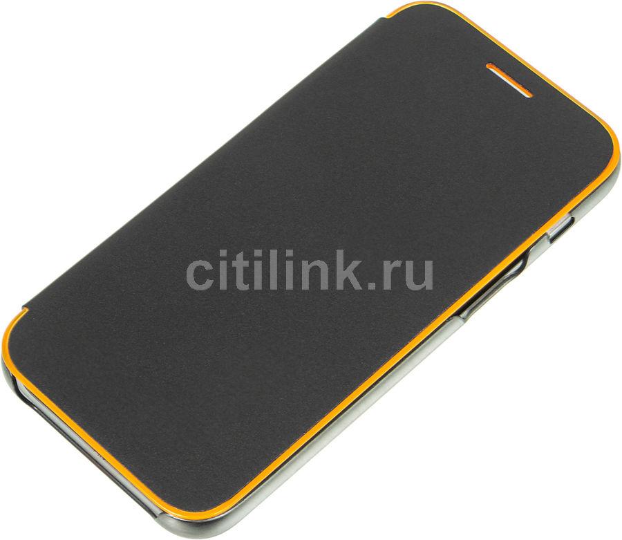 Чехол (флип-кейс) SAMSUNG Neon Flip Cover, для Samsung Galaxy A3 (2017), черный [ef-fa320pbegru]