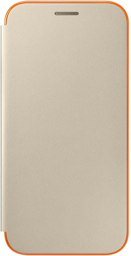 Чехол (флип-кейс) SAMSUNG Neon Flip Cover, для Samsung Galaxy A5 (2017), золотистый [ef-fa520pfegru]