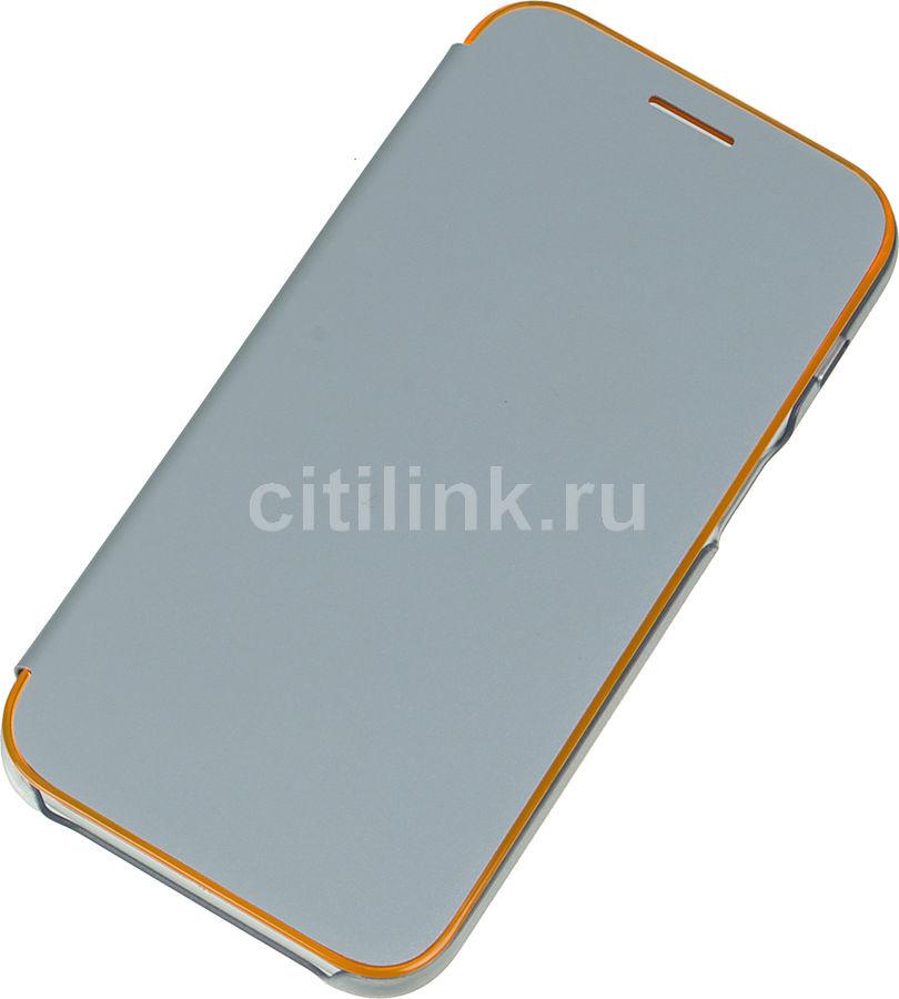 Чехол (флип-кейс) SAMSUNG Neon Flip Cover, для Samsung Galaxy A3 (2017), синий [ef-fa320plegru]