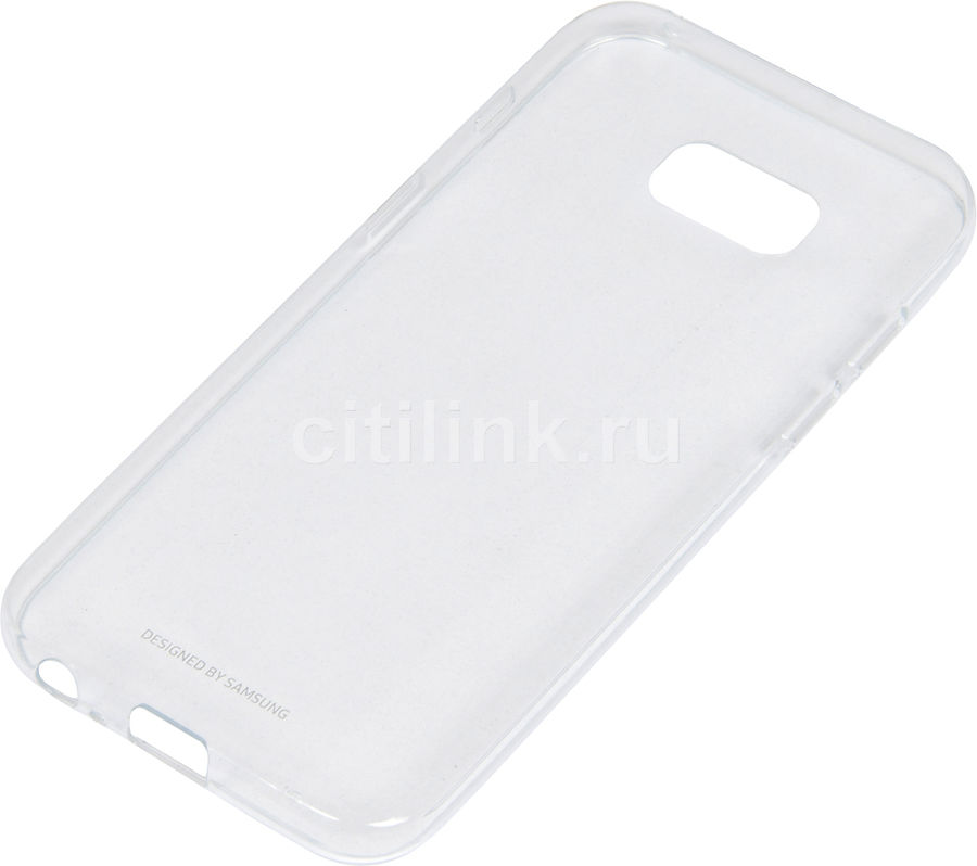 Чехол (клип-кейс) SAMSUNG Clear Cover, для Samsung Galaxy A3 (2017), прозрачный [ef-qa320ttegru] nillkin super frosted shield чехол для lenovo s930 black