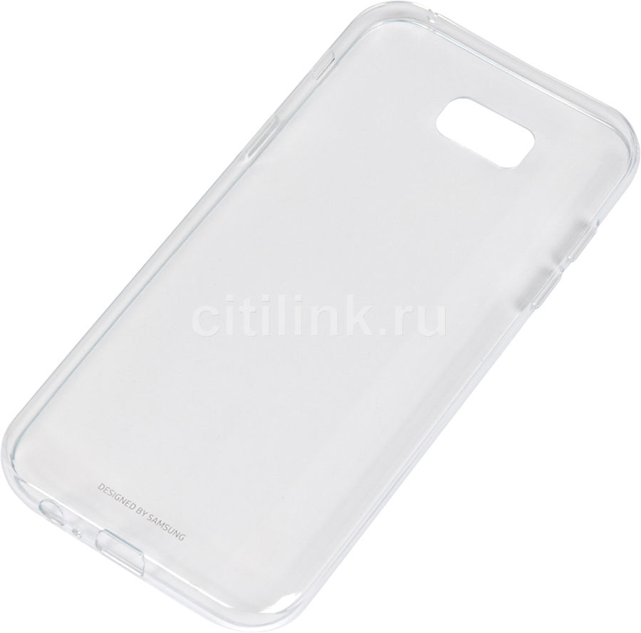 Чехол (клип-кейс) SAMSUNG Clear Cover, для Samsung Galaxy A7 (2017), прозрачный [ef-qa720ttegru]