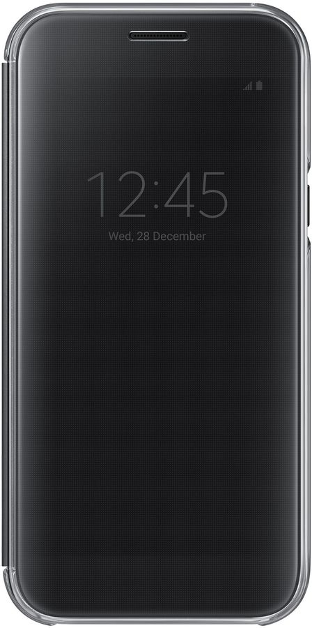 Чехол (флип-кейс) SAMSUNG Clear View Cover, для Samsung Galaxy A5 (2017), черный [ef-za520cbegru]