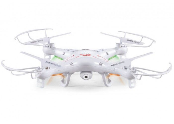 Квадрокоптер SYMA X5С, с камерой, белый [x5с white]