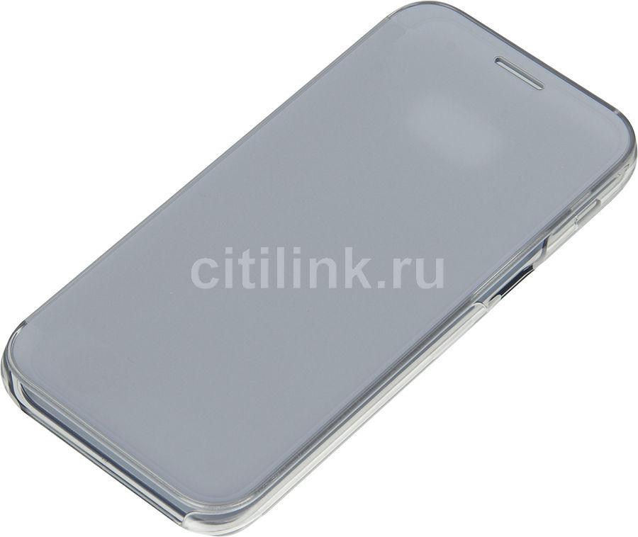 Чехол (флип-кейс) SAMSUNG Clear View Cover, для Samsung Galaxy A5 (2017), голубой [ef-za520clegru]