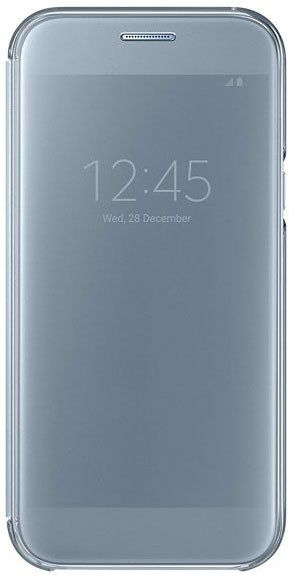 Чехол (флип-кейс) SAMSUNG Clear View Cover, для Samsung Galaxy A7 (2017), голубой [ef-za720clegru]