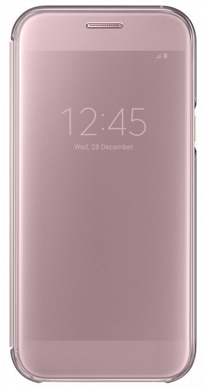 SAMSUNG Чехол (флип-кейс) SAMSUNG Clear View Cover, для Samsung Galaxy A7 (2017), розовый [ef-za720cpegru]