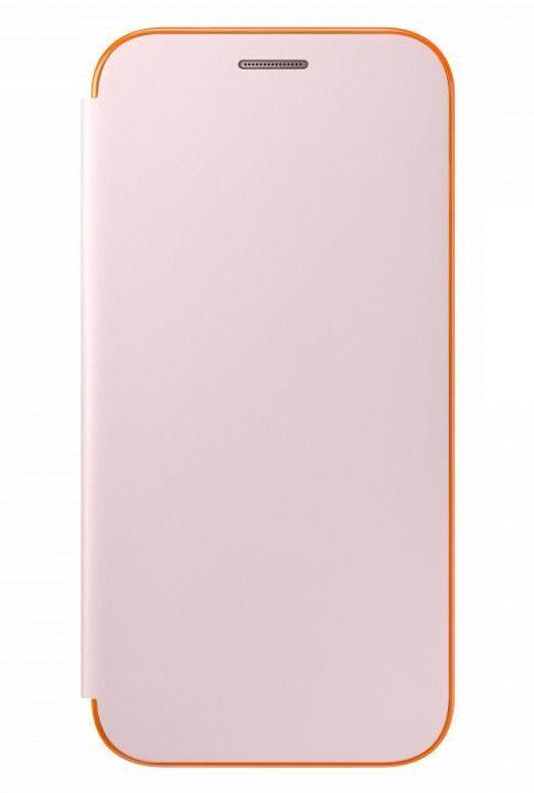 Чехол (флип-кейс) SAMSUNG Neon Flip Cover, для Samsung Galaxy A5 (2017), розовый [ef-fa520ppegru]