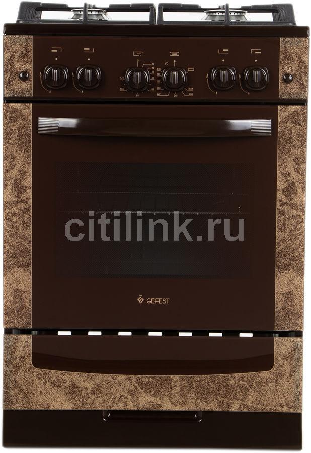Газовая плита GEFEST ПГ 6500-02 0114,  газовая духовка,  коричневый мрамор