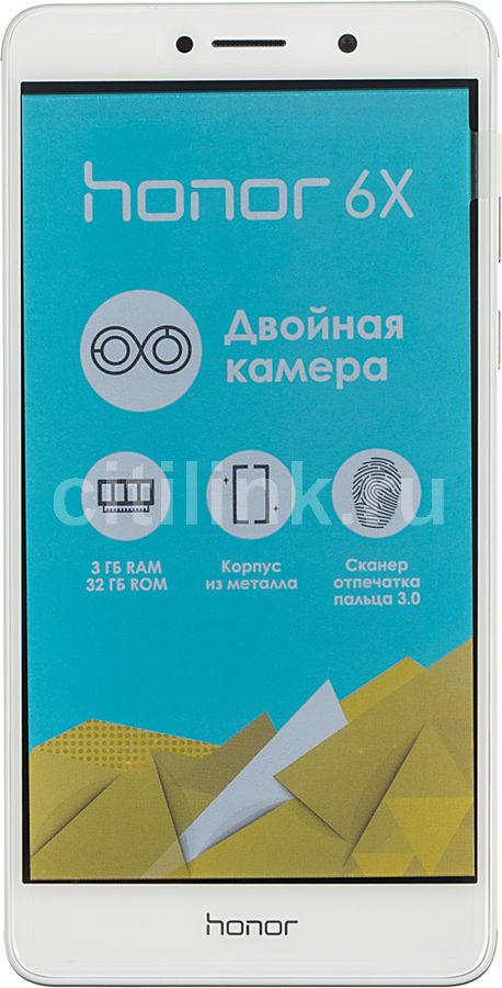 Смартфон HUAWEI Honor 6X  серебристый