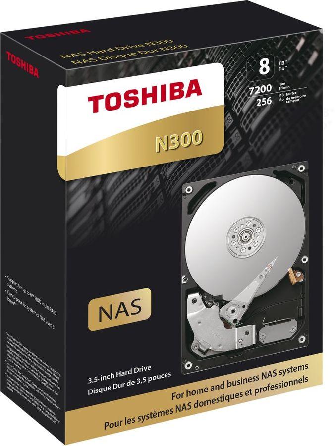 Жесткий диск TOSHIBA N300 HDWN180EZSTA,  8Тб,  HDD,  SATA III,  3.5