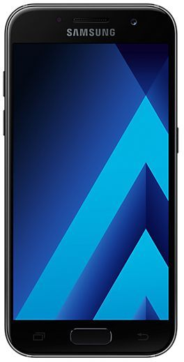 Смартфон SAMSUNG Galaxy A3 (2017) 16Gb, SM-A320F, черный смартфон samsung galaxy j5 2017 16gb sm j530fm ds черный
