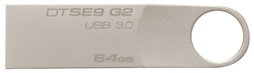 Флешка USB KINGSTON DataTraveler SE9 G2 64Гб, USB3.0, серебристый [dtse9g2/64gb]
