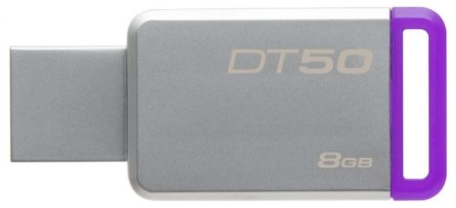 Флешка USB KINGSTON DataTraveler 50 8Гб, USB3.0, серебристый [dt50/8gb]