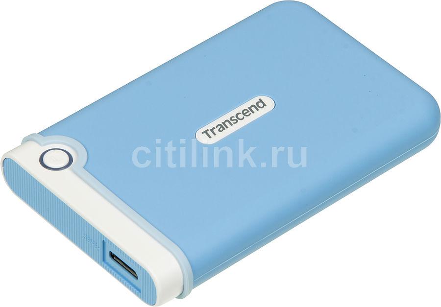 Внешний жесткий диск TRANSCEND StoreJet 25M3 TS1TSJ25M3B, 1Тб, голубой