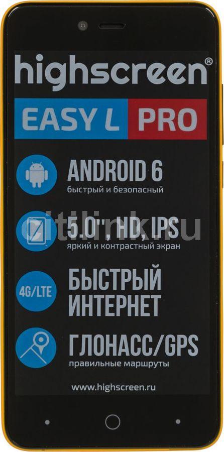 Смартфон HIGHSCREEN Easy L PRO  желтый