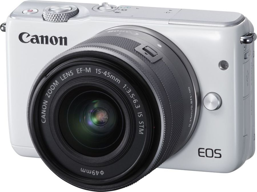Фотоаппарат CANON EOS M10 kit ( 15-45 IS STM), белый [0922c012] цифровая фотокамера canon eos m10 15 45is stm white 0922c012