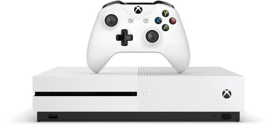 Игровая консоль MICROSOFT Xbox One S с 1 ТБ памяти, игрой Gears of War 4 и подпиской Live на 3 месяца,  234-00013-1, белый