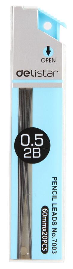 Грифель Deli E7003 0.5мм 2B (20гриф) туба