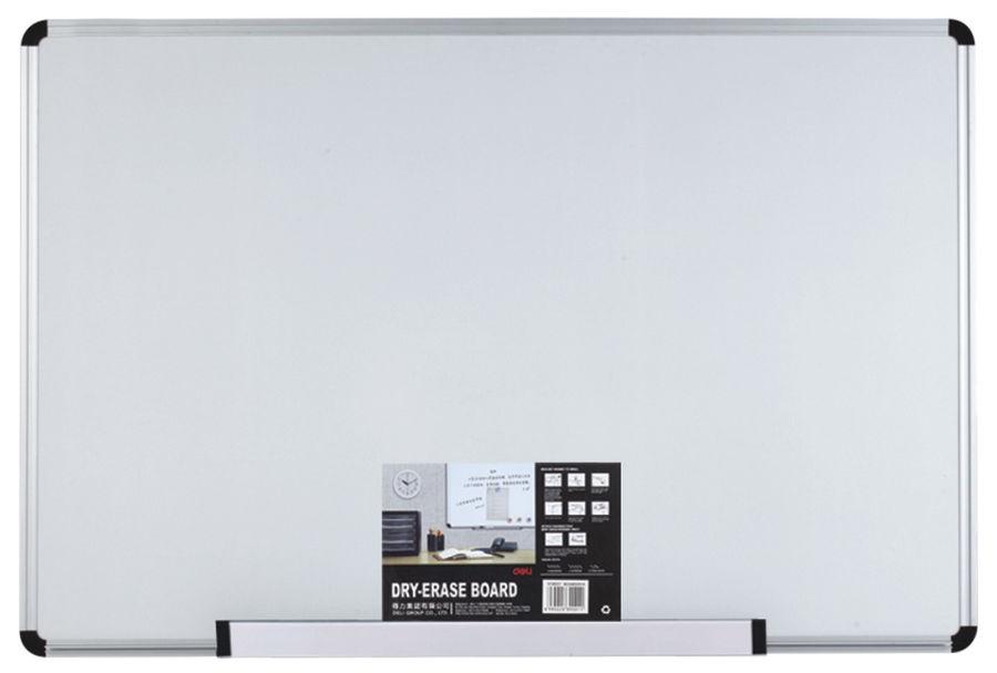 Демонстрационная доска Deli E39044 90x120см алюминиевая рама белый