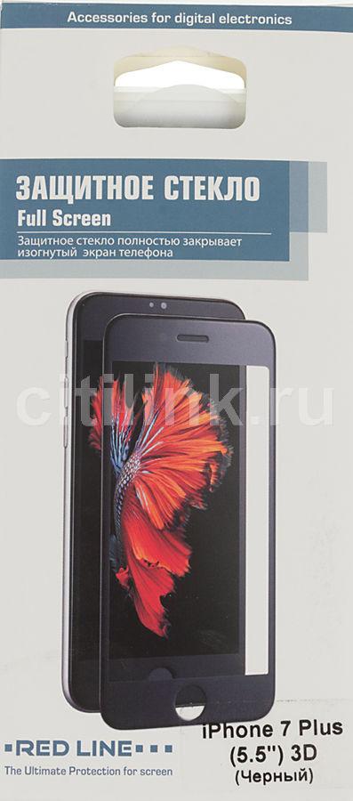 Защитное стекло REDLINE для Apple iPhone 7 Plus,  1 шт, черный [ут000009794]