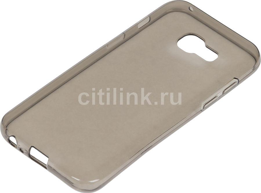 Чехол (клип-кейс) REDLINE iBox Crystal, для Samsung Galaxy A3 (2017), серый [ут000010228]