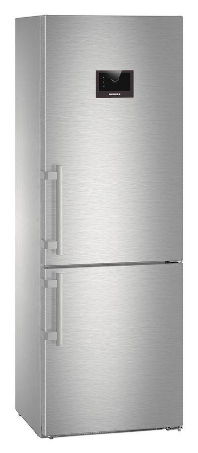 Холодильник LIEBHERR CBNPes 5758,  двухкамерный, нержавеющая сталь