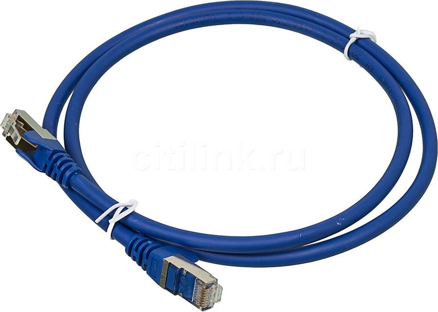 Кабель Патч-корд LANMASTER FTP,  вилка RJ-45,  вилка RJ-45,  кат.6А,  LSZH,  1м,  синий [lan-pc45/s6a-1.0-bl]