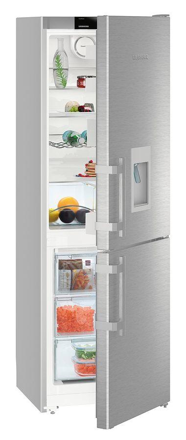 Холодильник LIEBHERR CNef 3535,  двухкамерный, нержавеющая сталь