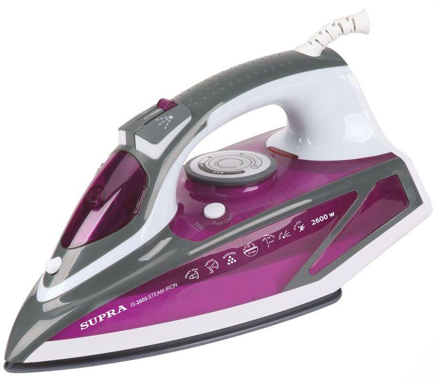 Утюг SUPRA IS-2605,  2600Вт,  фиолетовый/ белый [10999]