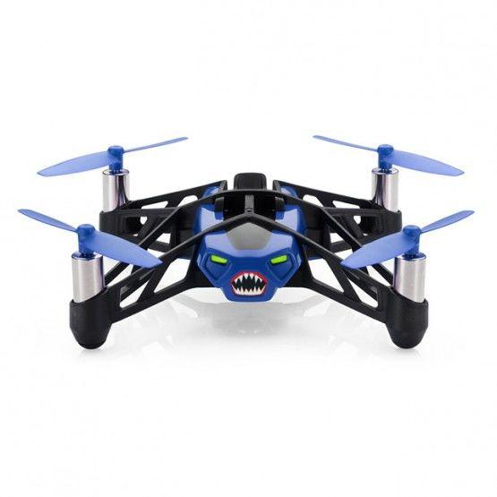 Квадрокоптер PARROT Rolling Spider, с камерой, синий [pf723007]