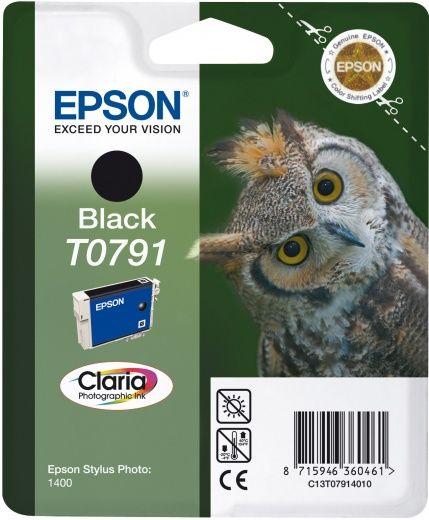 Картридж EPSON T0791 черный [c13t07914010]