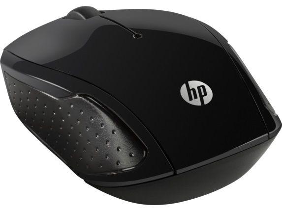 Мышь HP 200 оптическая беспроводная USB, черный [x6w31aa]