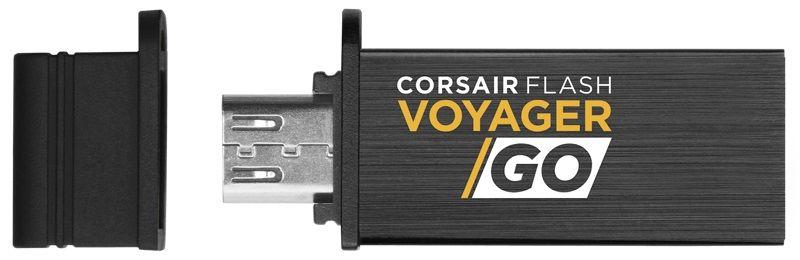 Флешка USB CORSAIR Voyager GO 128Гб, USB3.0, черный [cmfvg-128gb]