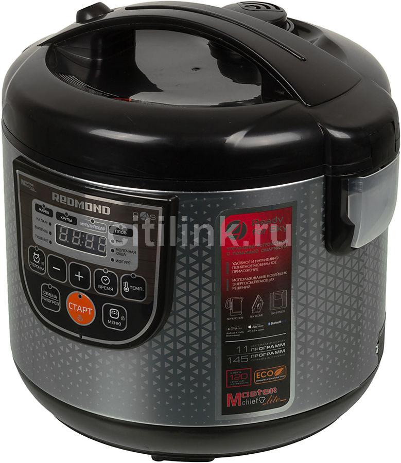 Мультиварка REDMOND RMC-M222S,  860Вт,   серебристый/черный