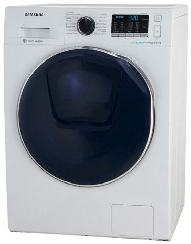 Стиральная машина SAMSUNG WD80K5410OW, фронтальная загрузка,  белый
