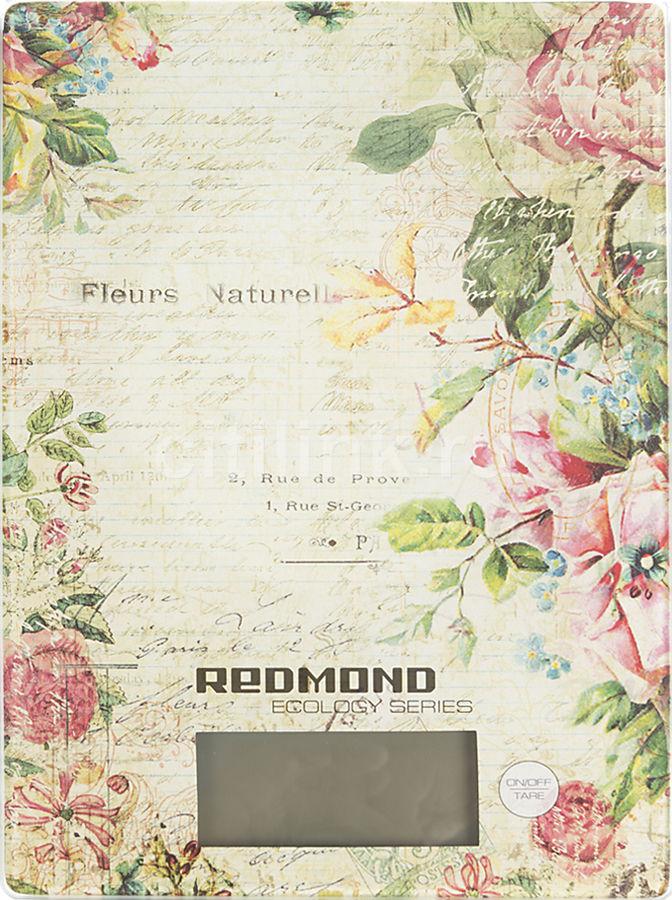 Весы кухонные REDMOND RS-736,  рисунок/цветы