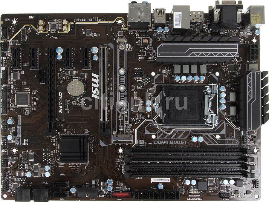Материнская плата MSI Z270-A PRO, LGA 1151, Intel Z270, ATX, Ret