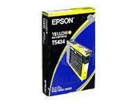 Картридж EPSON T5434, желтый [c13t543400]