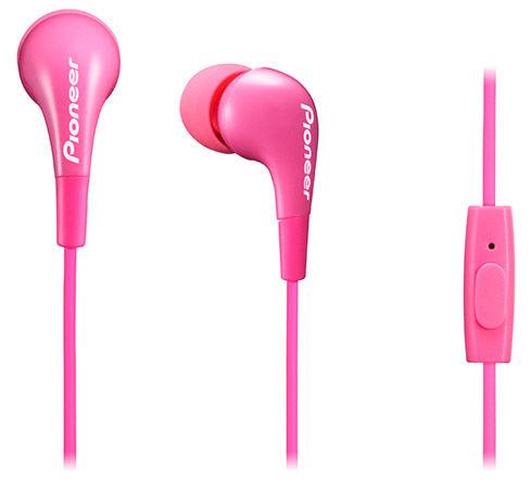 Гарнитура PIONEER SE-CL502T-P, вкладыши,  розовый, проводные