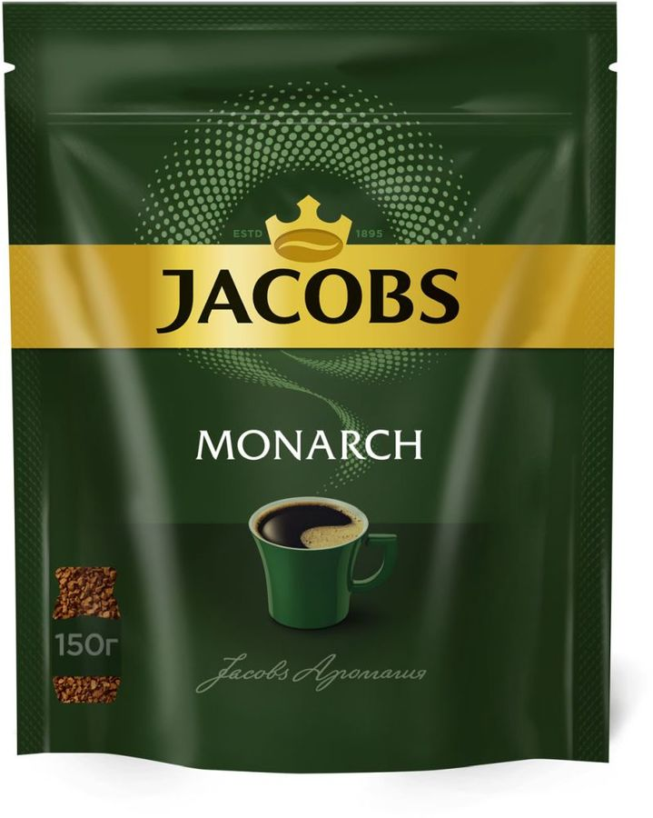 Кофе растворимый JACOBS MONARCH 150грамм [4251903] monarch