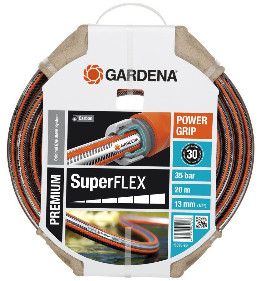"""Шланг Gardena SuperFlex 1/2"""" 20м поливочный (18093-20.000.00)"""