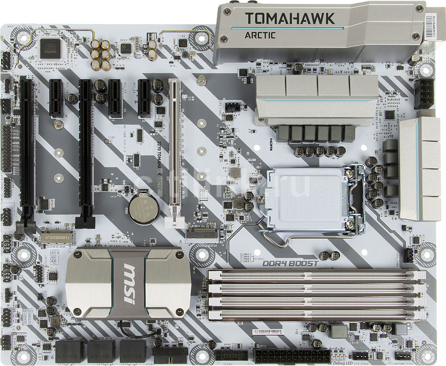 Материнская плата MSI Z270 TOMAHAWK ARCTIC, LGA 1151, Intel Z270, ATX, Ret