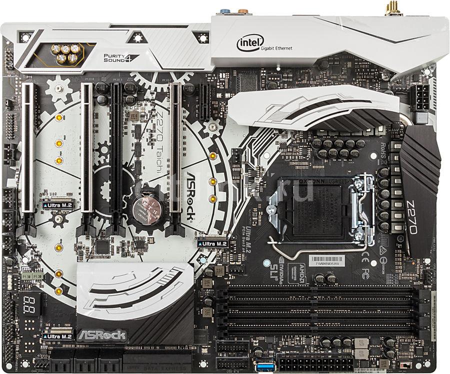 Материнская плата Asrock Z270 TAICHI Soc-1151 Intel Z270 4xDDR4 ATX AC`97 8ch(7.1) (отремонтированный)